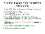 pronoun subject verb agreement rules cont