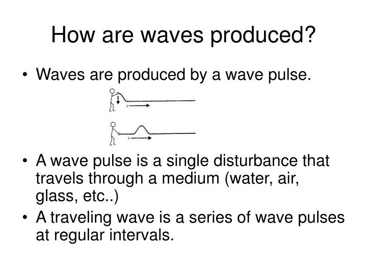 How are waves produced?