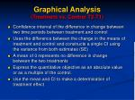 graphical analysis treatment vs control t2 t1