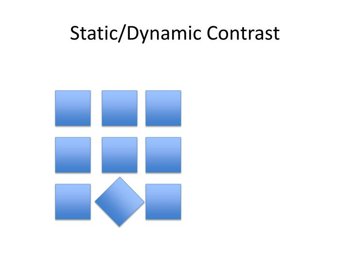 Static/Dynamic Contrast