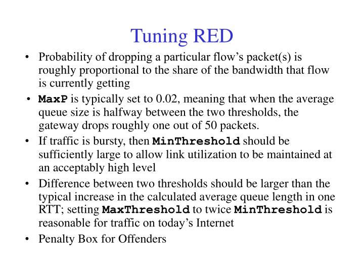 Tuning RED