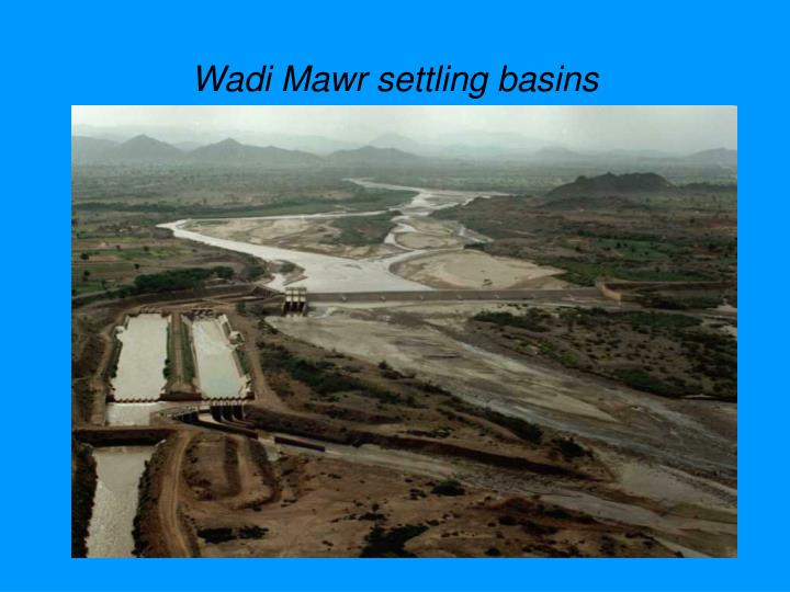 Wadi Mawr settling basins