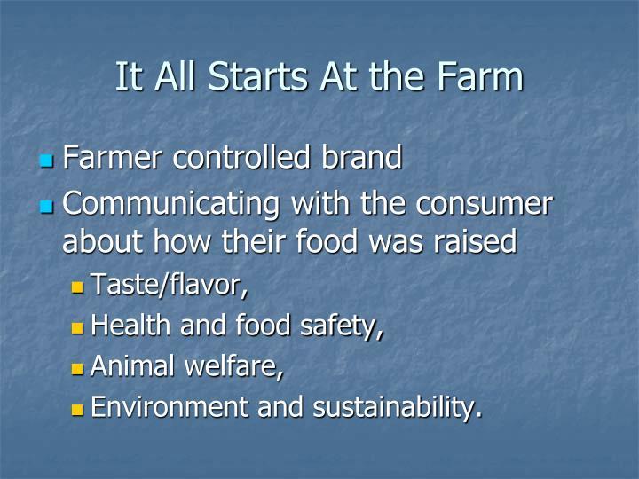 It all starts at the farm1