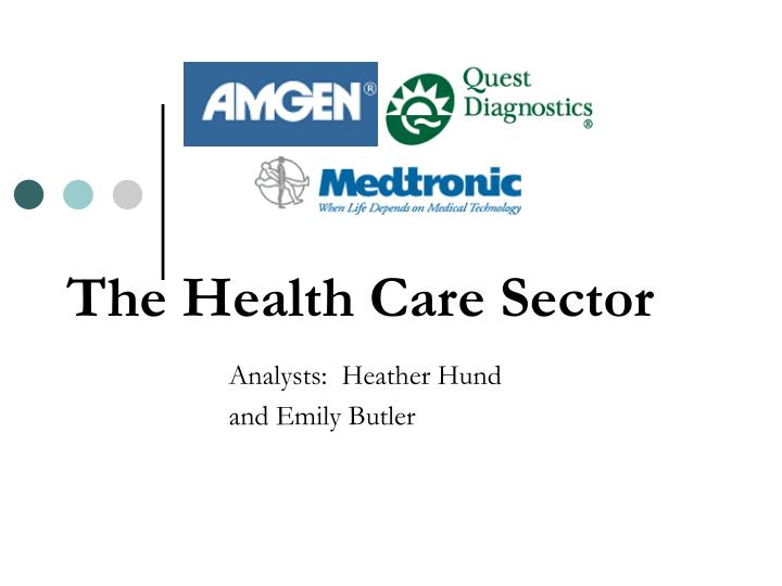 the health care sector n.
