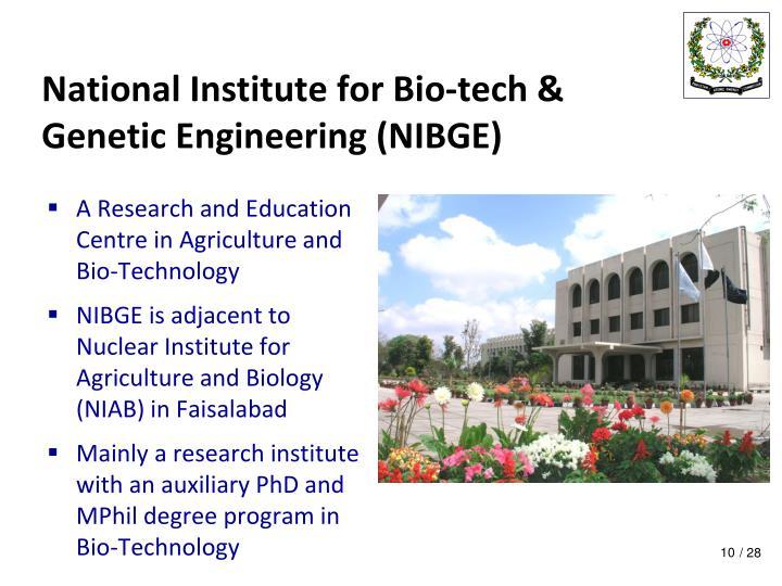 National Institute for Bio-tech &