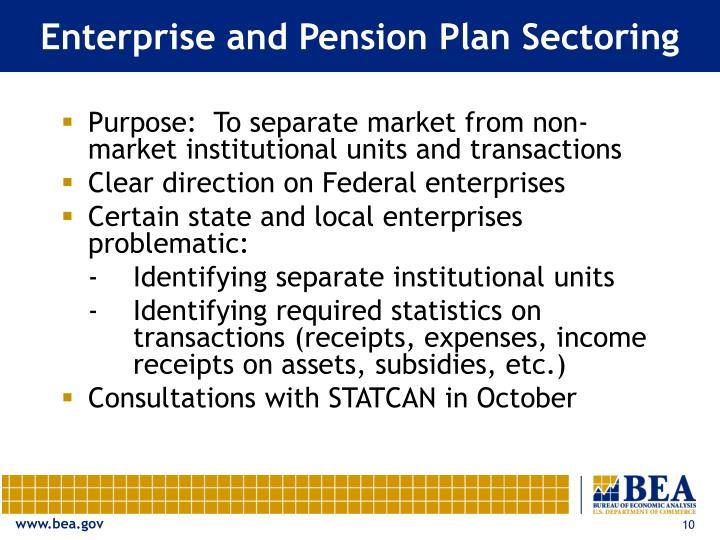 Enterprise and Pension Plan Sectoring