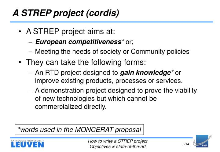 A STREP project (cordis)