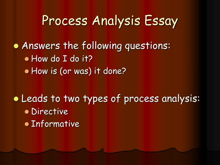 process analysis essay help