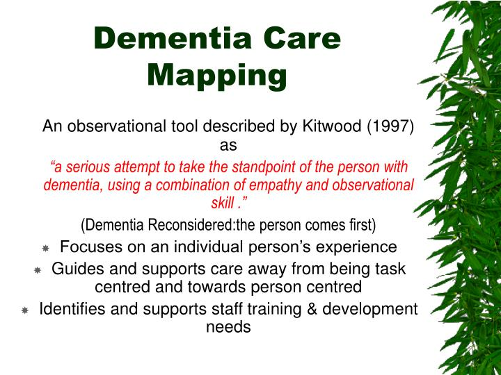 Dementia Care Mapping