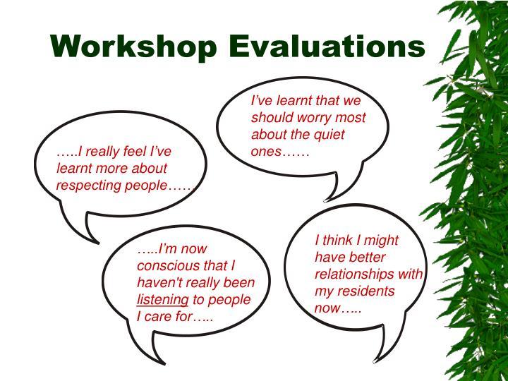 Workshop Evaluations