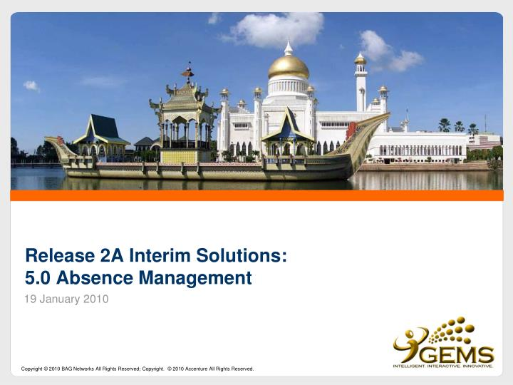 Release 2a interim solutions 5 0 absence management