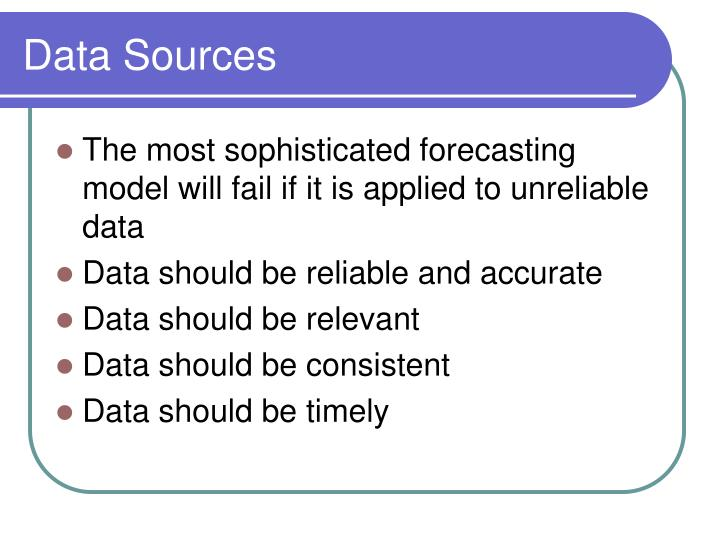 data sources n.
