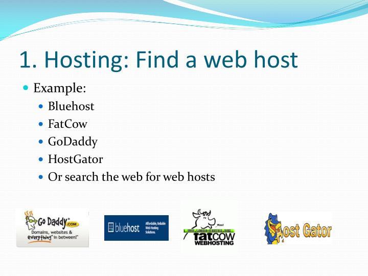 1. Hosting