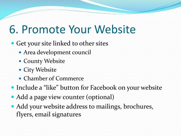 6. Promote Your Website