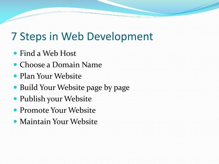 7 steps in web development
