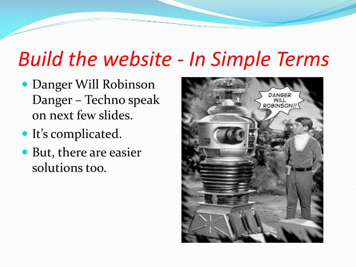 Build the website - In Simple Terms