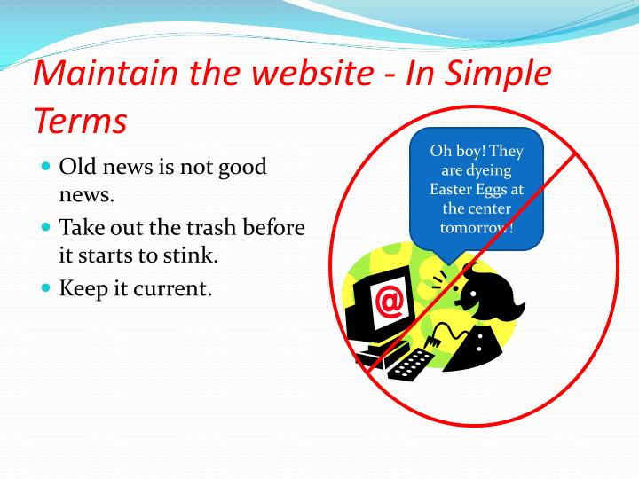 Maintain the website - In Simple Terms