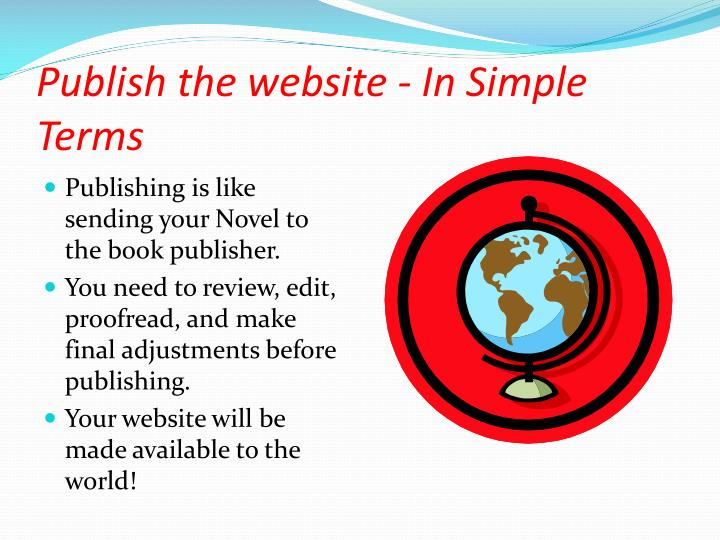 Publish the website - In Simple Terms