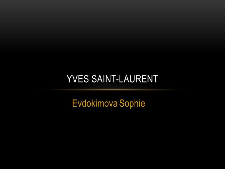 yves saint laurent n.