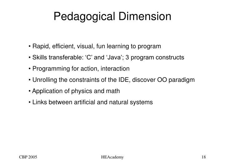 Pedagogical Dimension