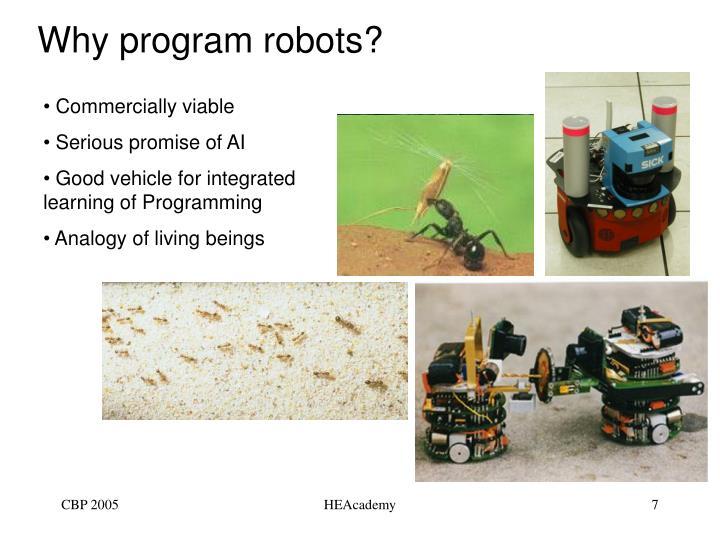 Why program robots?