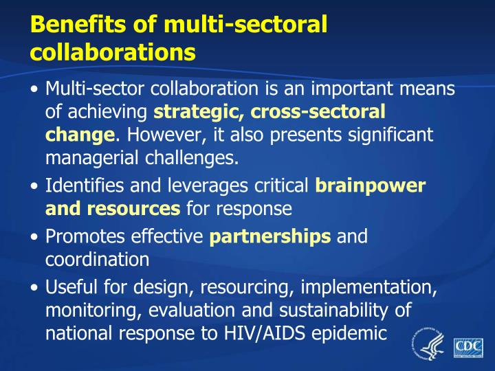 Benefits of multi-sectoral collaborations