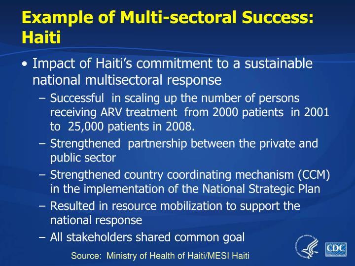 Example of Multi-sectoral Success: Haiti