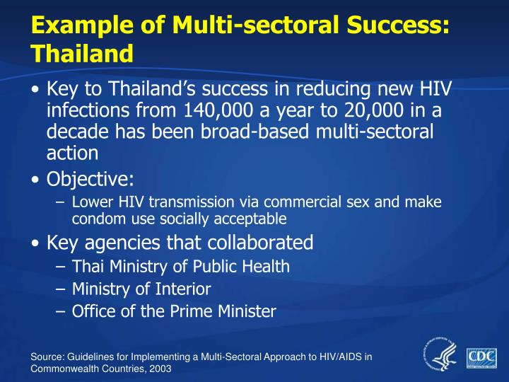 Example of Multi-sectoral Success: Thailand