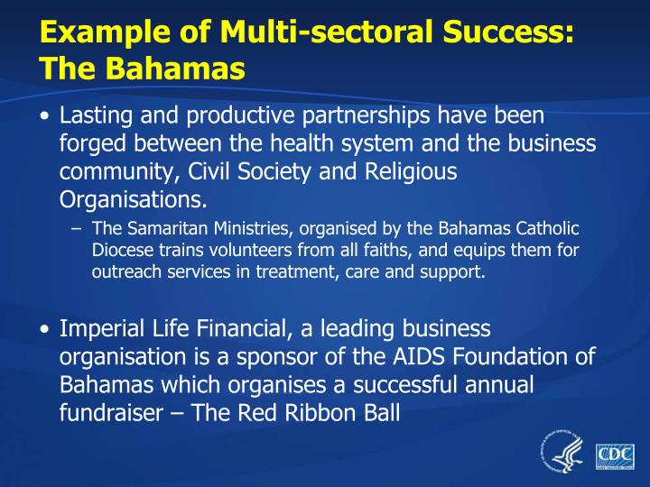 Example of Multi-sectoral Success: The Bahamas