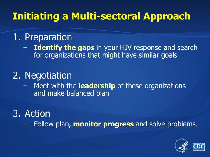 Initiating a Multi-sectoral Approach