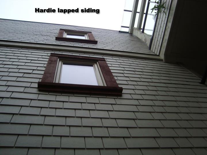 Hardie lapped siding