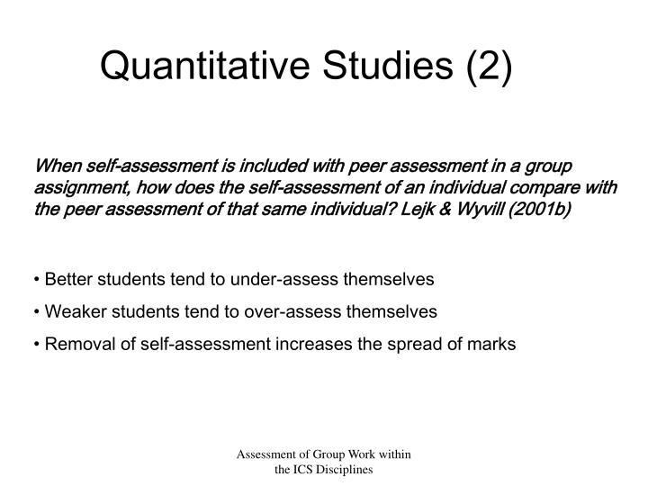 Quantitative Studies (2)