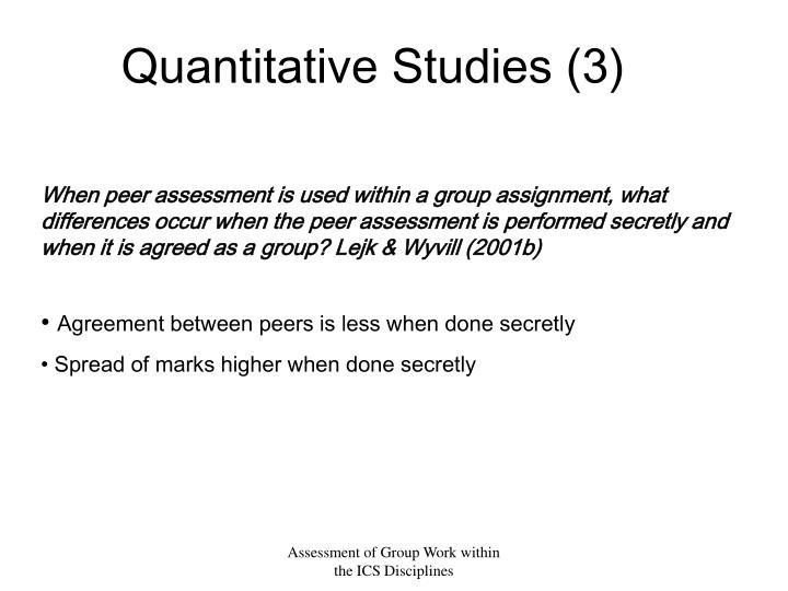 Quantitative Studies (3)