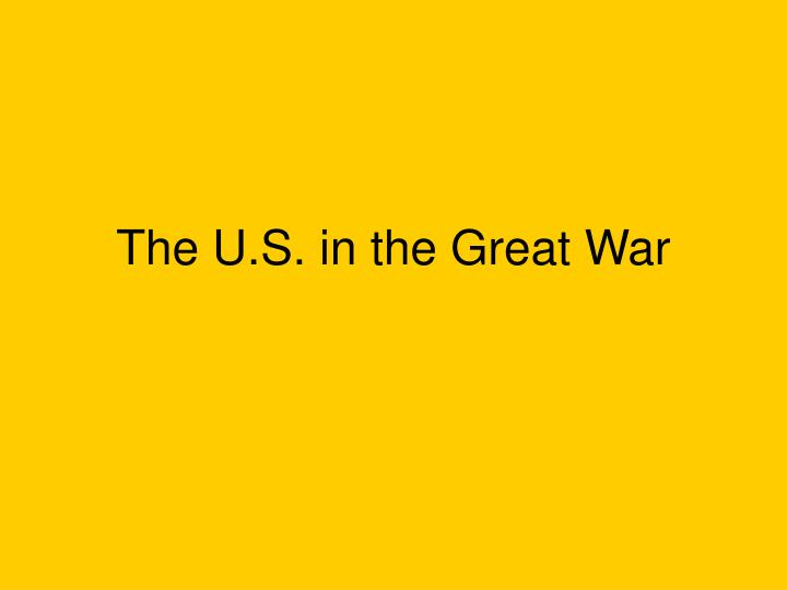 the u s in the great war n.