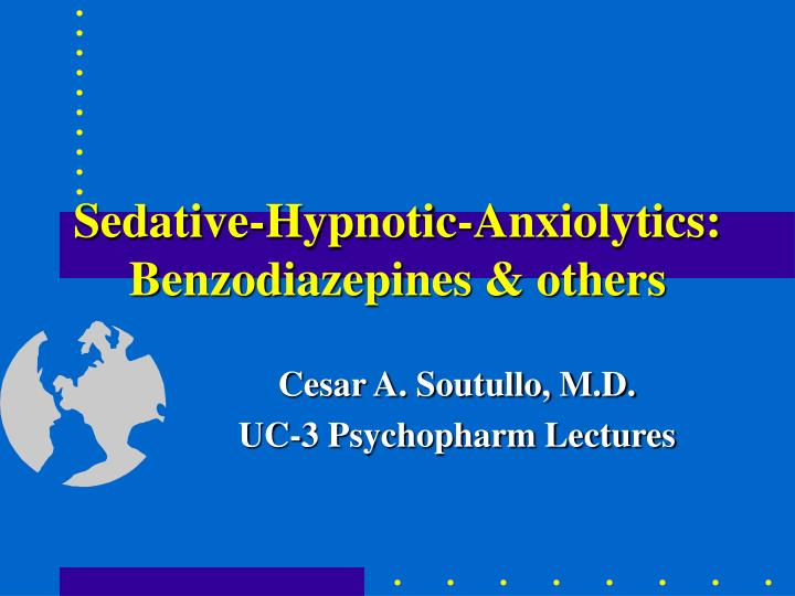sedative hypnotic anxiolytics benzodiazepines others n.