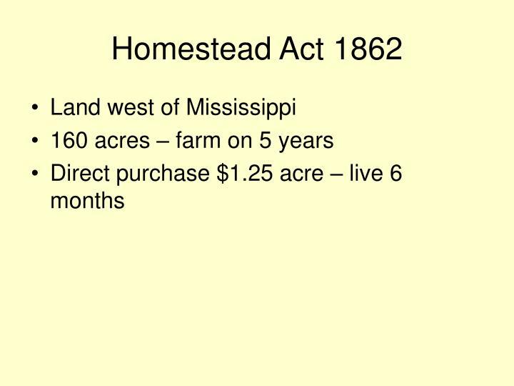Homestead Act 1862