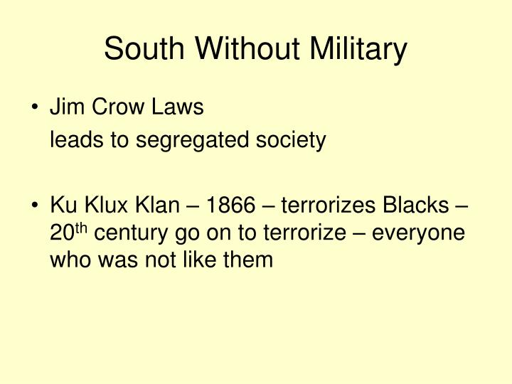 South Without Military
