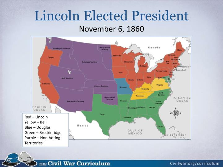 Lincoln elected president november 6 1860