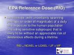 epa reference dose rfd