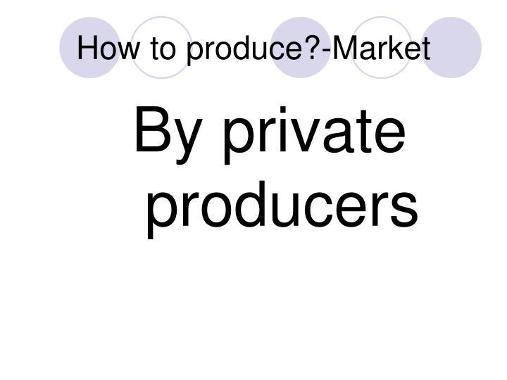 How to produce?-Market