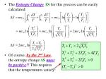 the entropy change s for this process can be easily calculated