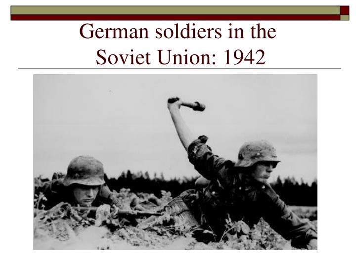 German soldiers in the
