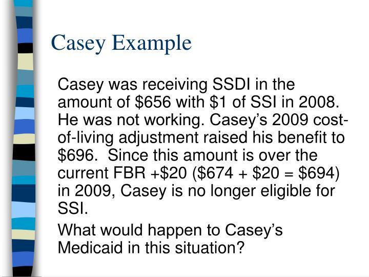 Casey Example
