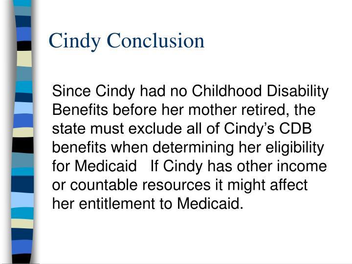 Cindy Conclusion