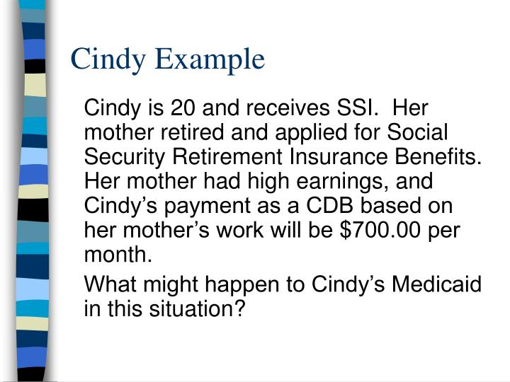 Cindy Example