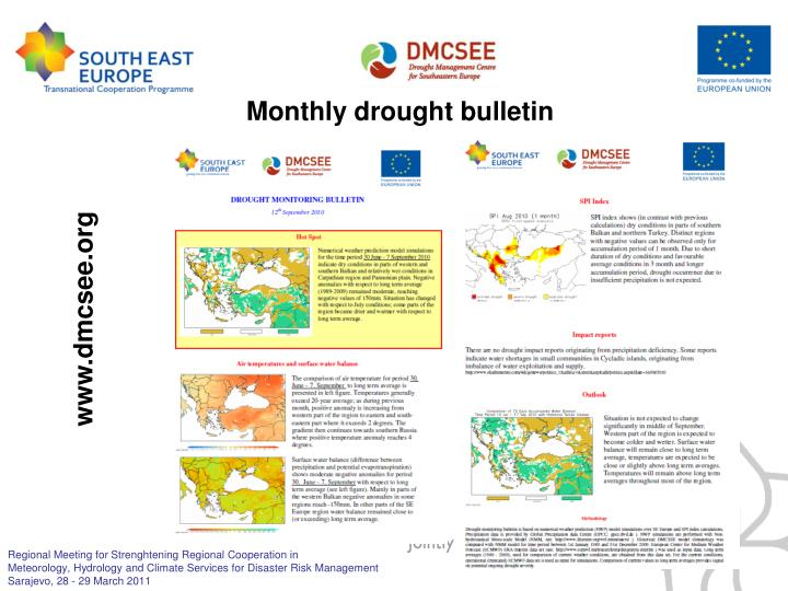 Monthly drought bulletin