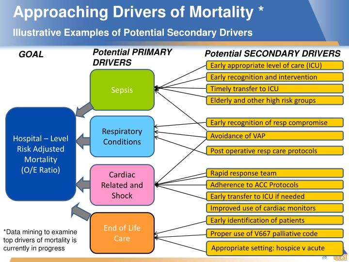 Approaching Drivers of Mortality *