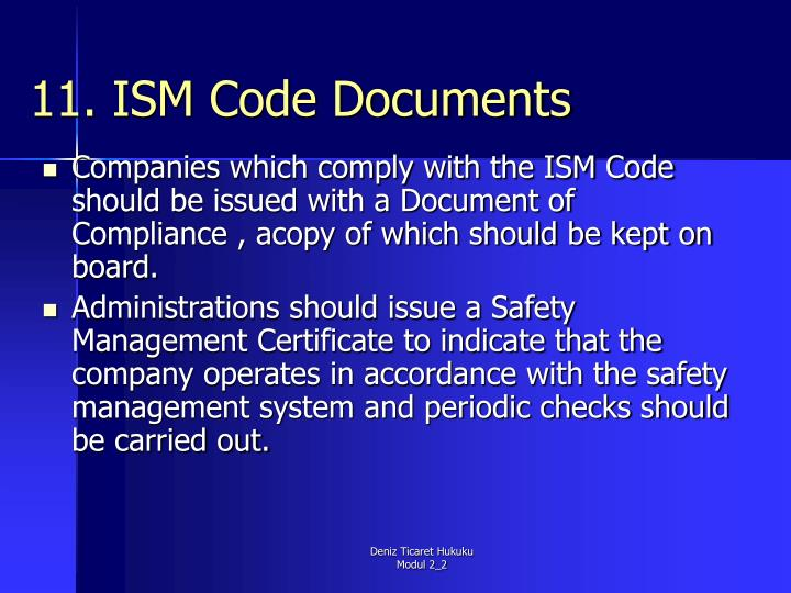 11. ISM Code Documents
