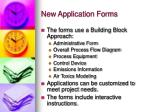 new application forms