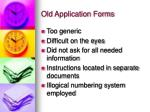 old application forms1